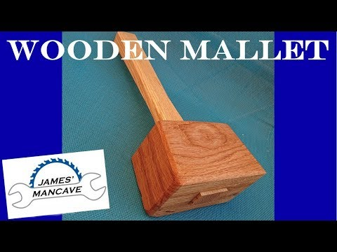 How To Make A Wooden Mallet From Oak and Ash   #016