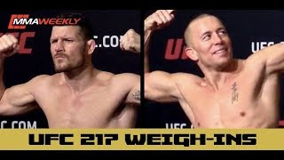ufc 217 official weigh ins michael bisping vs georges st pierre