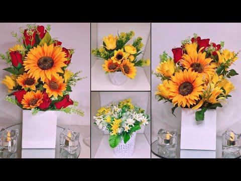 Arreglos florales Fáciles y Económicos para el Hogar | Girasoles