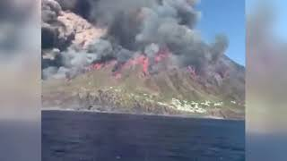 Si innalza il livello dell'allerta a Stromboli