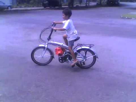 Sepeda Lipat Modif Mesin 2 3gp Youtube