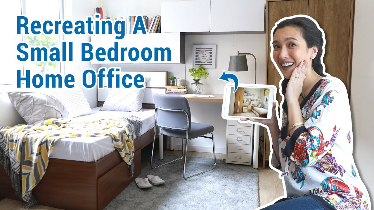Recreating A Small Bedroom Home Office | MF Home TV