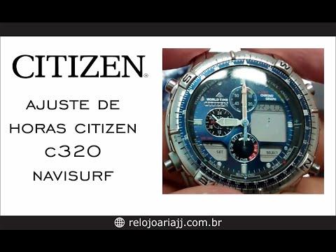 Ajustar hora do Citizen