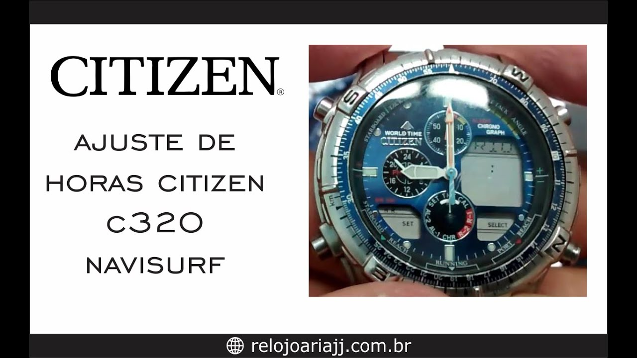 9b775e8dcd7 Ajustar hora do Citizen - YouTube