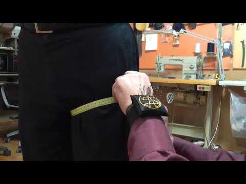 Как снять мерки для пошива мужских брюк