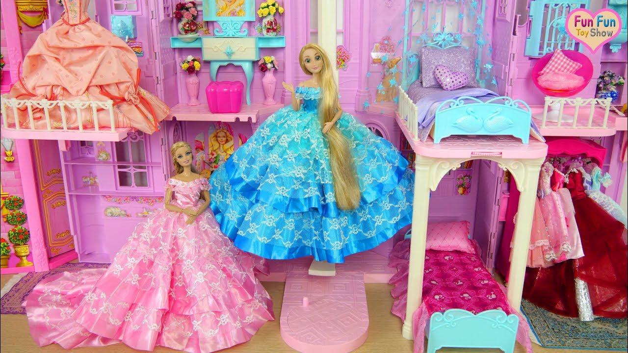Download Barbie Rapunzel Palace Ballroom Dance Party Day! Barbie Puppe Ballsaal Tanzparty boneka Pesta dansa