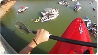 Kayaking Off Bridge | Look Out Below!