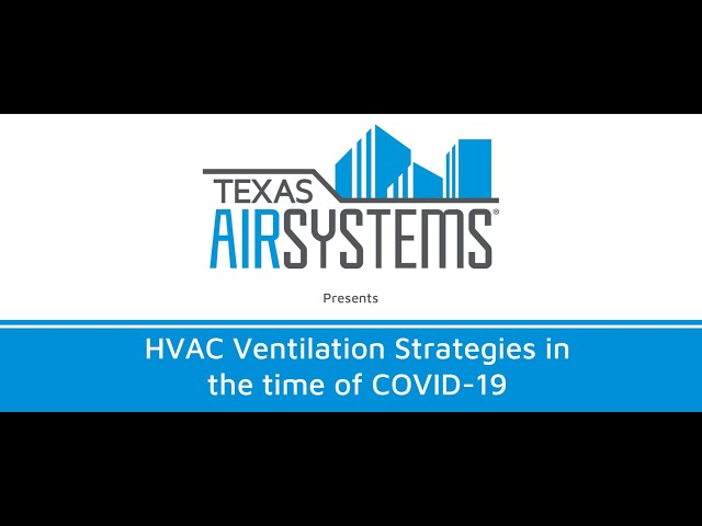 Controlling COVID-19 -- HVAC Ventilation Strategies in the time of COVID-19