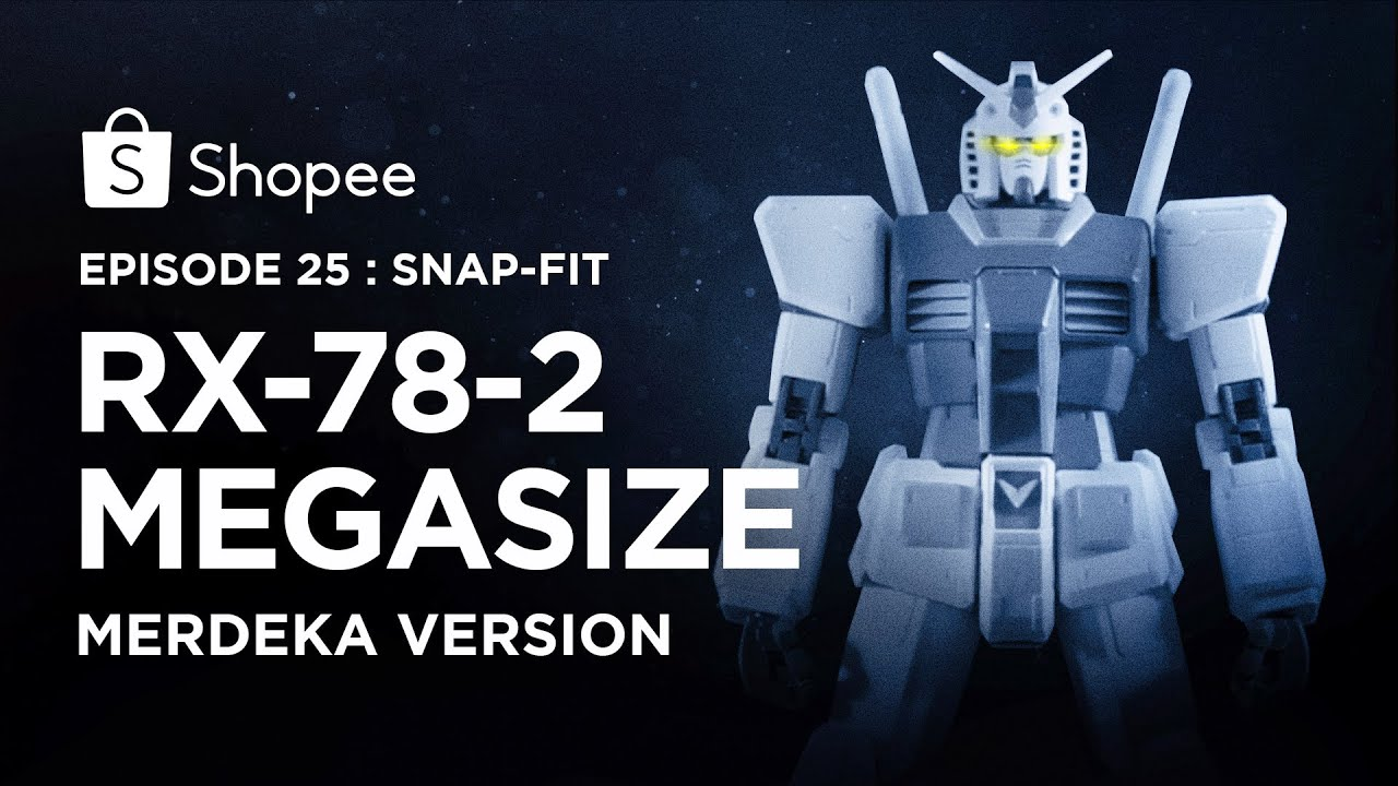 Megasize RX-78-2 Merdeka Version - Snap-Fit (Eps 25) I Shopee Hobbies
