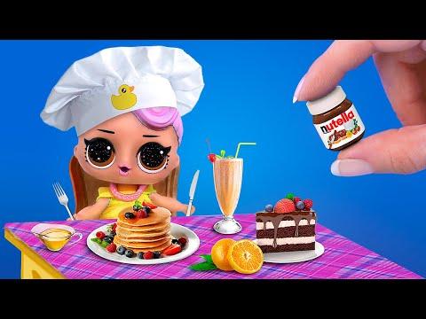 Миниатюрная еда и напитки – 12 идей / Лайфхаки для мини кухни - Видео онлайн