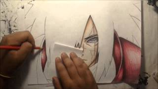 DRAWING UCHIHA MADARA by: GT