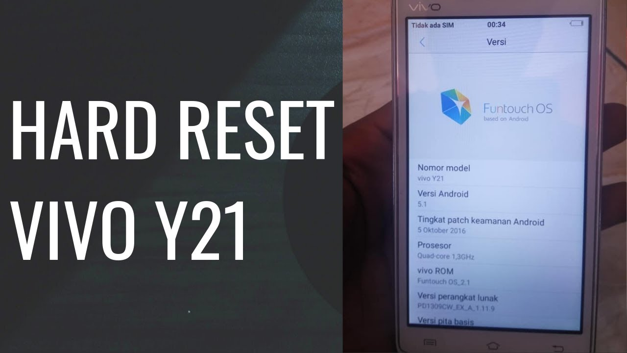 Cara Hard Reset Vivo Y21 Dari Menu Recovery Youtube