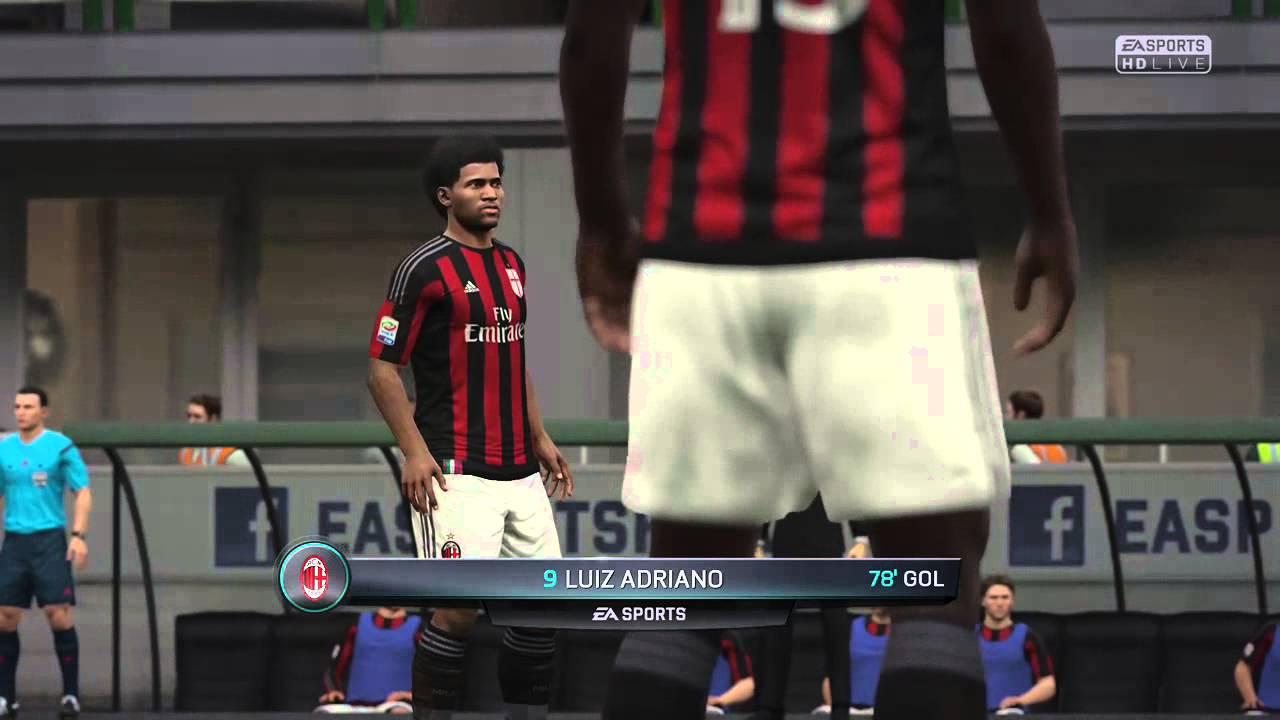 FIFA 16 LUIZ ADRIANO FANTASTIC HEAD GOAL FOR AC MILAN