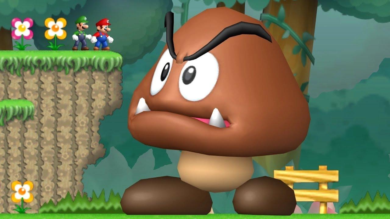 Newer Super Mario Bros Wii Co-Op Walkthrough - Mini-Mega Island #1