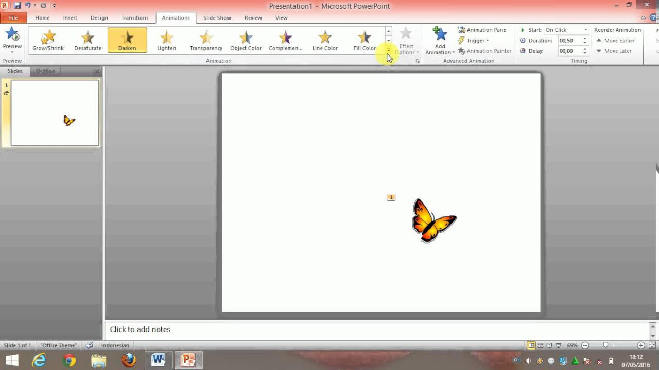 Tutorial Cara Membuat Animasi Gambar Bergerak Animation Pane Power Point By Alfiriani Wulandari Youtube