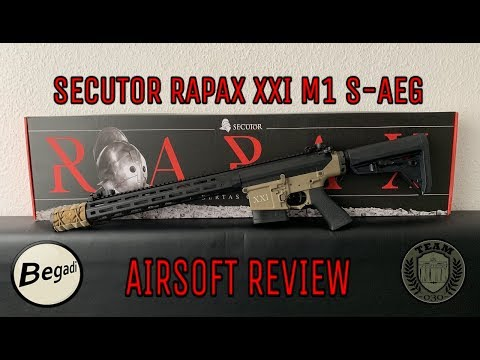 [REVIEW] ARES/SECUTOR RAPAX XXI M1 S-AEG Airsoft Review By TEAM-030- AIRSOFT