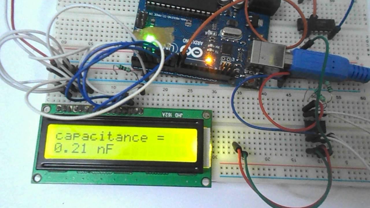 capacitance meter using arduino youtubecapacitance meter using arduino circuit digest