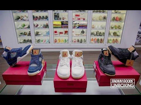 new product 708f7 12e2a Unboxing All Three Levi's x Air Jordan 4