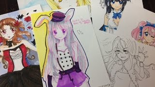 Manga/Anime Sketchbooks & Drawings 2015 June