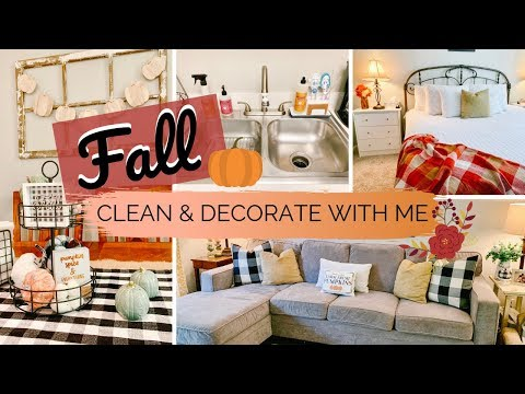 🍁FALL CLEAN & DECORATE WITH ME | RELAXING APARTMENT CLEANING | FARMHOUSE STYLE
