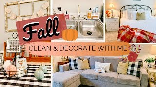 �FALL CLEAN & DECORATE WITH ME | RELAXING APARTMENT CLEANING | FARMHOUSE STYLE
