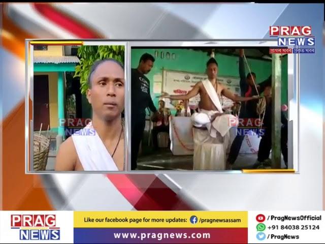 Assam man performs unconventional yoga!!!