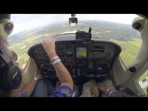 Cessna T182T landing at Burlington CZBA. Cockpit view with live ATC!