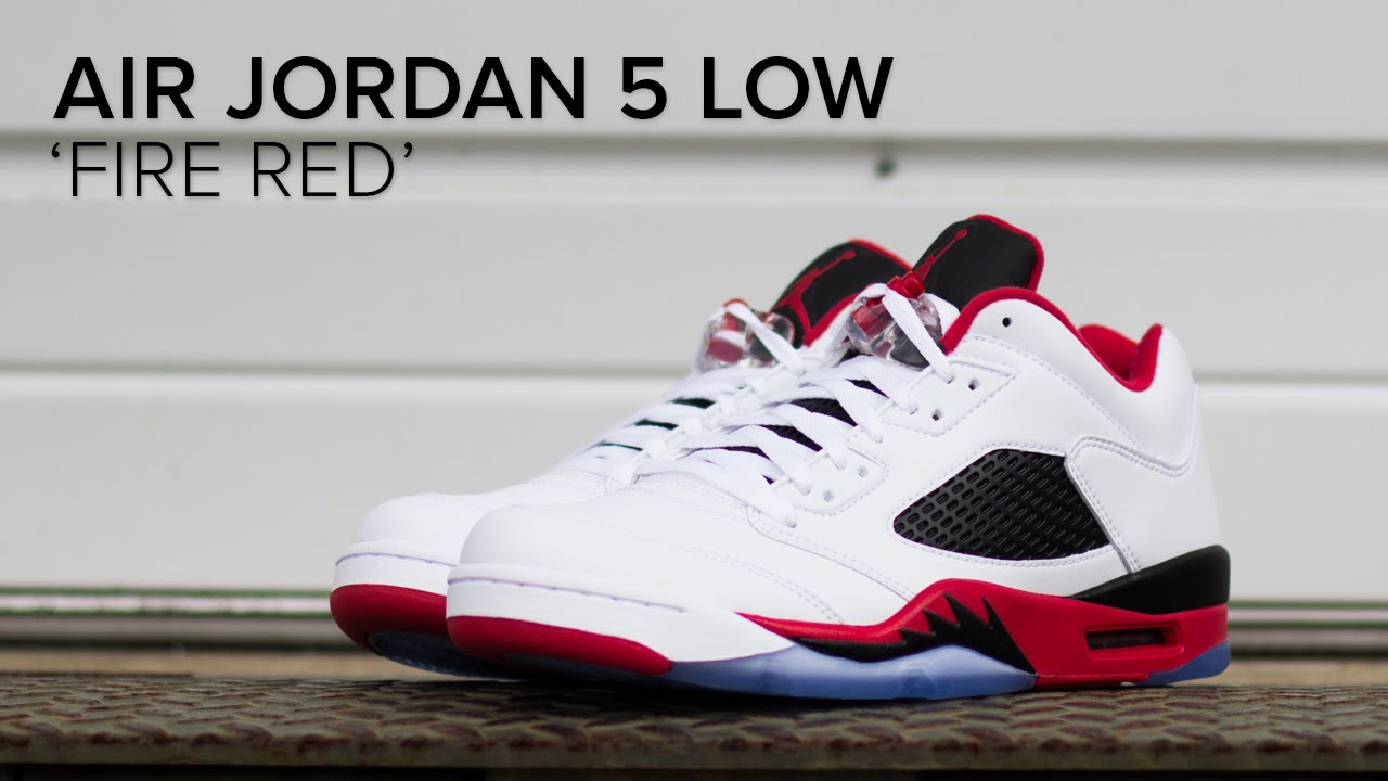 8ef10da0884a47 Air Jordan 5 Low  Fire Red  Quick On Feet Review - YouTube