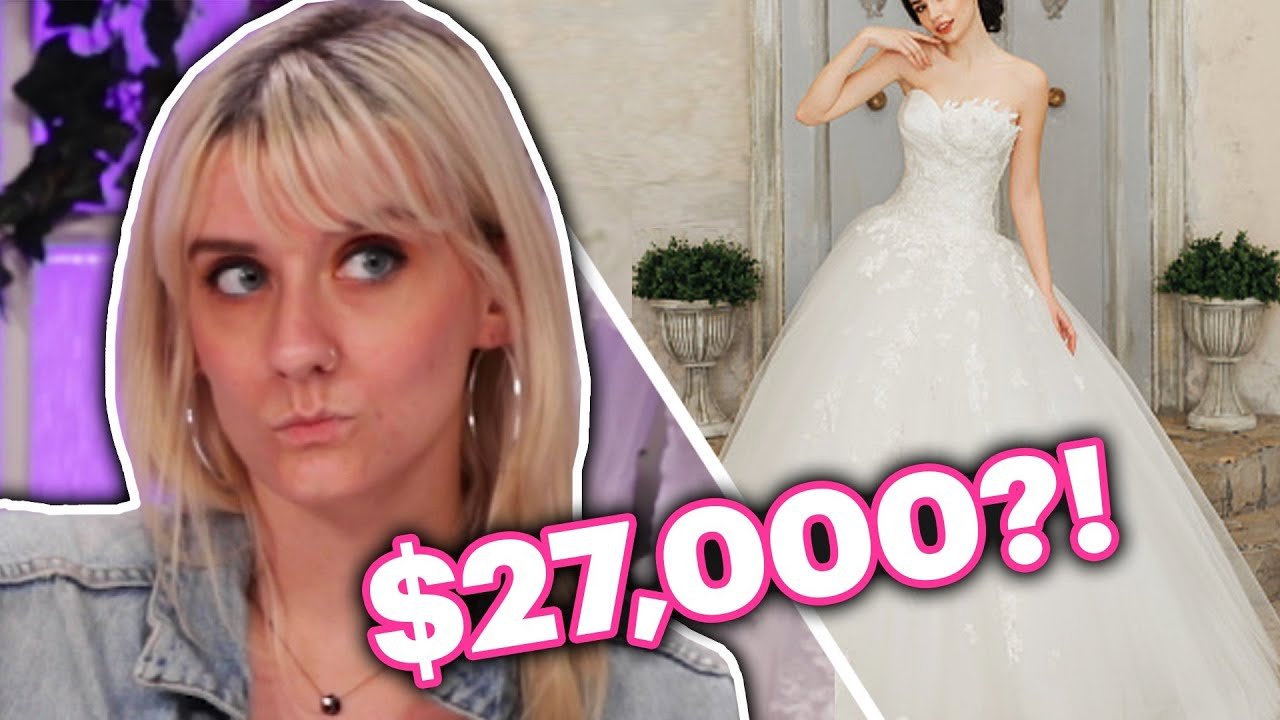 Brides Guess The Cost Of Wedding Dresses Youtube