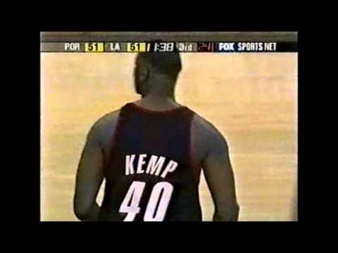 Shawn Kemp - Blazers at Lakers - 3/29/02