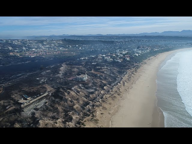 The aftermath: Drone captures the devastating fire damage in the Garden Route