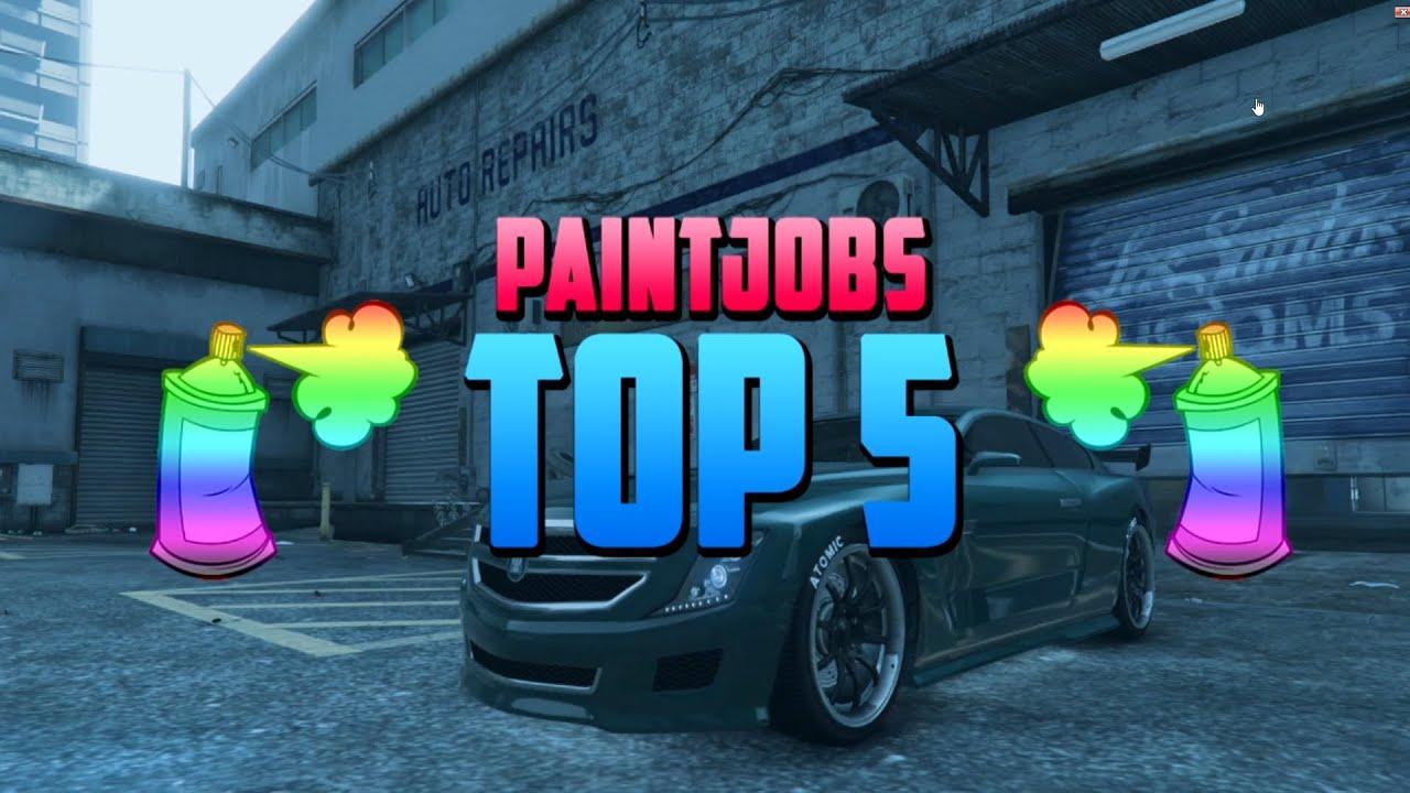 GTA 5 - Top 5 Paint Jobs & Rare Crew Colors Online - Best Rare Paint ...