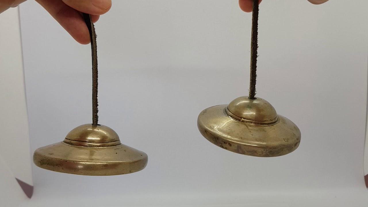 Handgefertigter Tibetisch Meditation Tingsha Cymbal Glocke mit Sechs Wort eNwrg