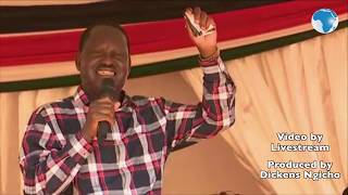 Raila sings taarab to crowd in Mombasa during launch in Mombasa