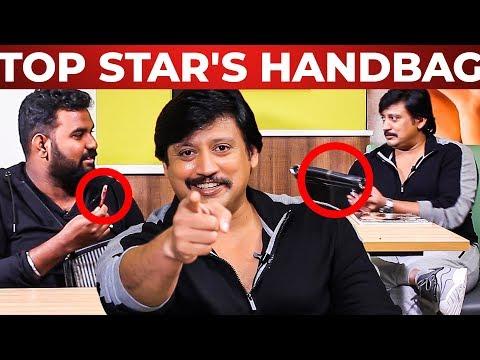 Top Star Prashanth's Handbag Secret   Vj Ashiq   What's Inside the HANDBAG