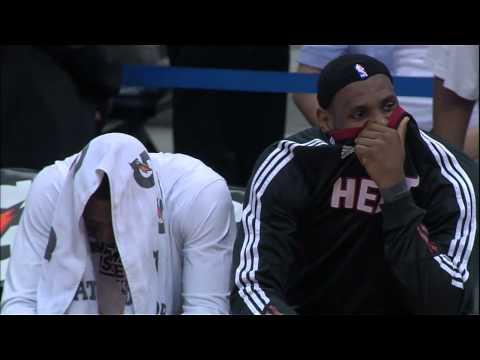 LeBron James and Dwyane Wade Kiss Cam (Miami Heat at Atlanta Hawks)