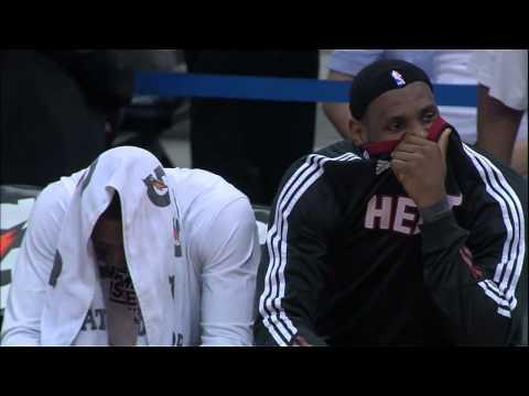 LeBron James and Dwyane Wade Kiss Cam (Miami Heat at Atlanta Hawks)