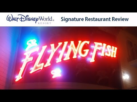Flying Fish - Signature Restaurant Disney Dining Review - Walt Disney World (Sept 2017)