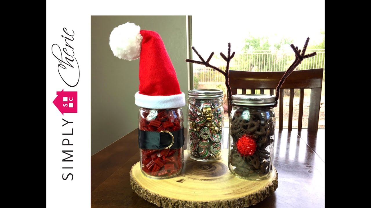 Christmas Carol Inspired Diy Collab 3 Mason Jar Candy Gifts Youtube