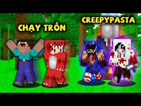 Rex Và Noob Thử Thách Chạy Trốn Khỏi Nhân Vật Creepypasta Trong Minecraft !!
