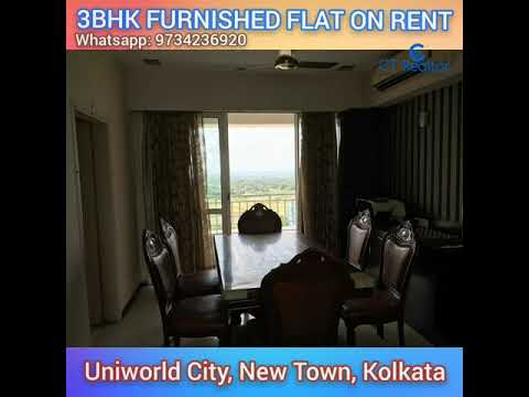 3BHK FURNISHED FLAT AVAILABLE ON RENT IN UNIWORLD CITY, NEW TOWN, KOLKATA.