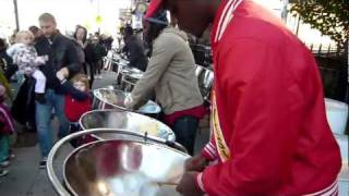 Steel Drum Street Band - Guyanese/Caribbean/West Indies - Music @ 2011 NYC Marathon