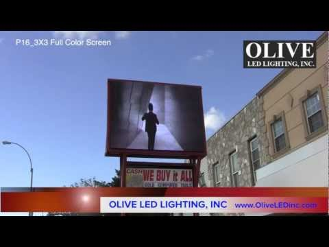 "OLIVE LED Billboard Screen Series #2 ""Brooklyn NY""  Full Color LED Sign Message Board"