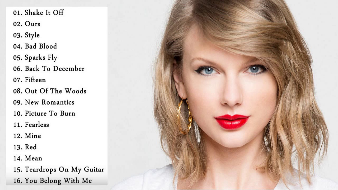Taylor Swift All Songs || Taylor Swift Playlist || Best Of ...