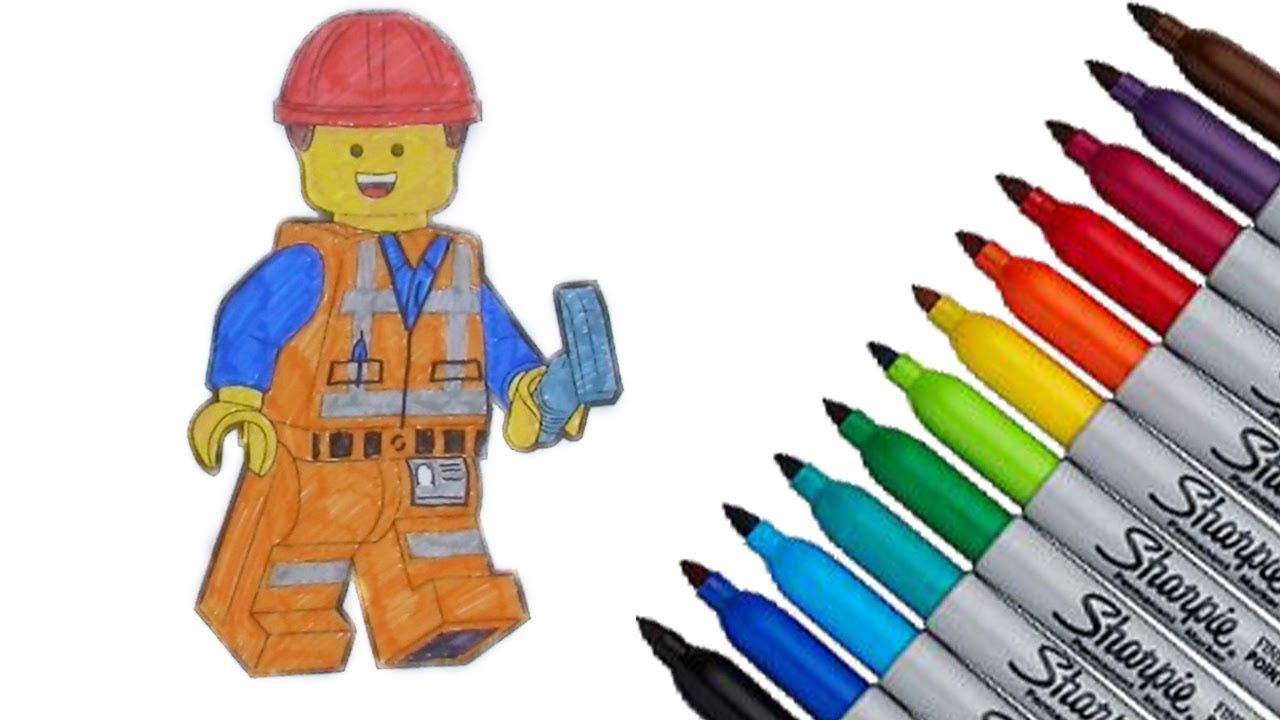 The Lego Movie Emmet Coloring Page 2017 New HD Video For Kids