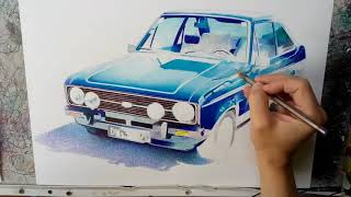 Drawing the Ford Escort 1600