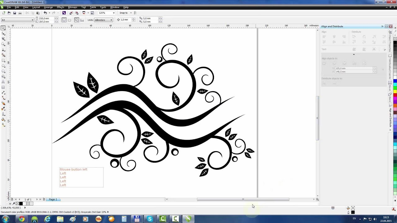 Coreldraw Tutorial: Create Abstract Floral Waves