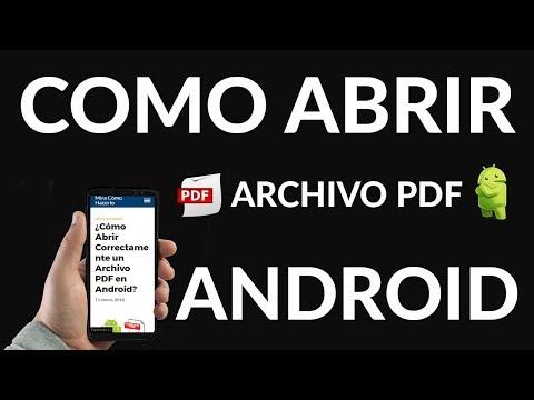 ¿Cómo Abrir Correctamente un Archivo PDF en Android?