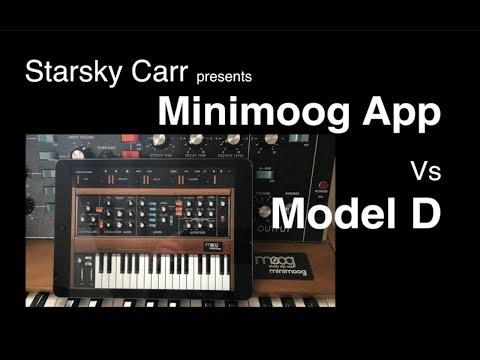 Minimoog App vs Model D Review