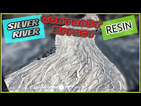 Silver RIver, RESIN Motion contrast effect, RESIN ART. DIY. resin cool effect, resin tutorial.